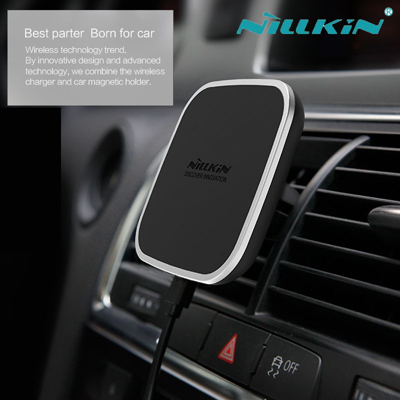 Click Image To Buy Nillkin Car Magnetic Qi Wireless Charger For Iphone X 8 6 6s 7 Plus Samsung S8 Plus S6 S7 Edge With Images Wireless Charger Nillkin Cool Tech Gadgets