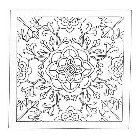 Mandala mit Blumen Ausmalbild   Plotter   Pinterest   Blumen ...