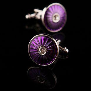 Purple Enamel Base Cufflinks for $24.99