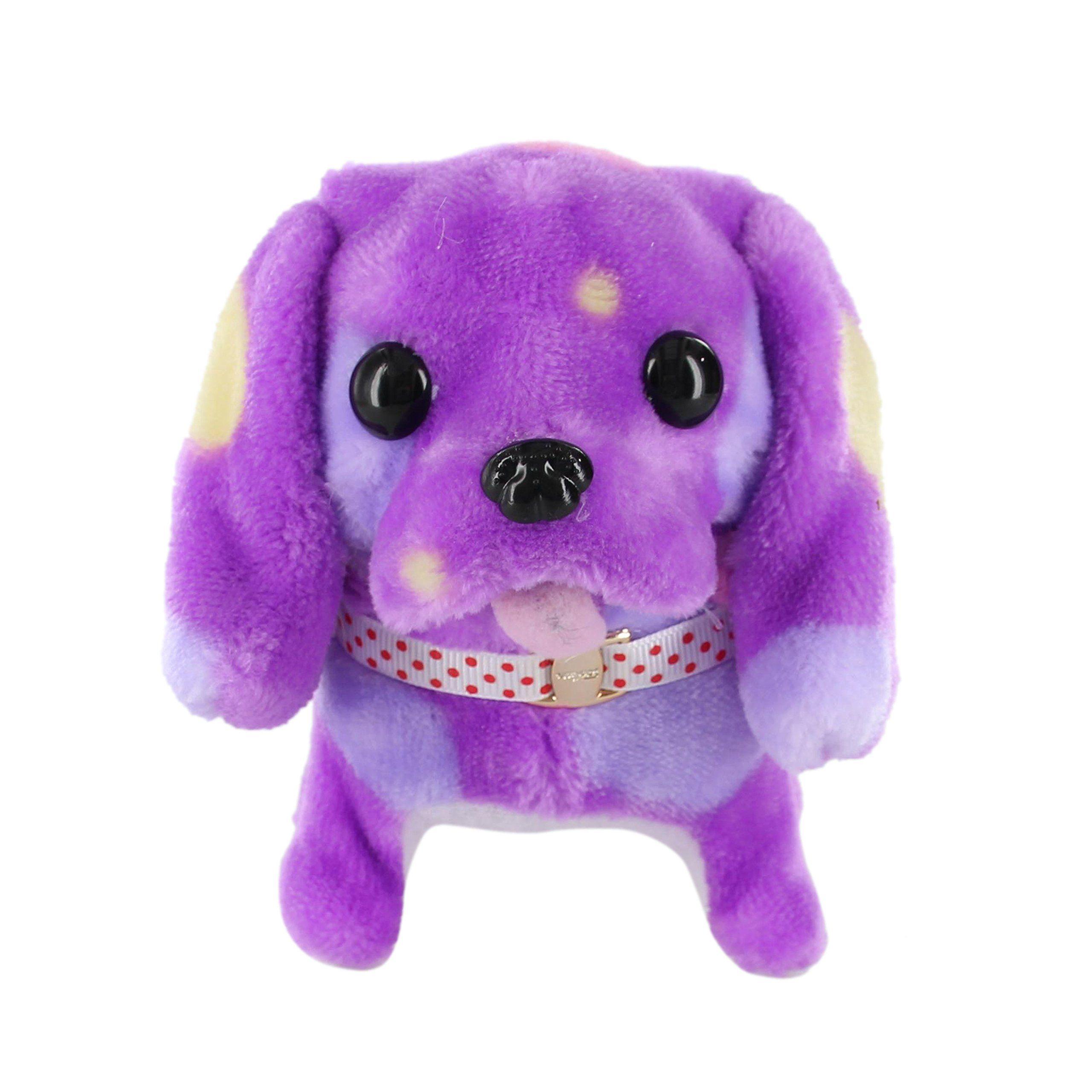 Electronic Barking Walking Wagging Puppy Dog Toy Pat Purple