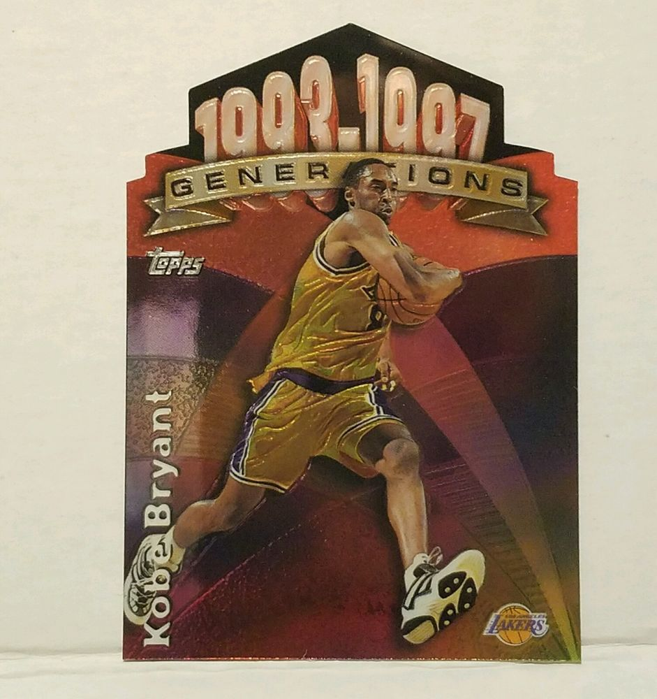 Kobe Bryant Basketball Card Topps Generations LA Lakers 1997 98  #LosAngelesLakers #forsale #kobebryant #sportscard #nba #lalakers #cardcollector #ebay #vintagecard #basketball #basketballcard #cardcollector #diecutcard #topps #generationscard http://ow.ly/YSKW306tgIU