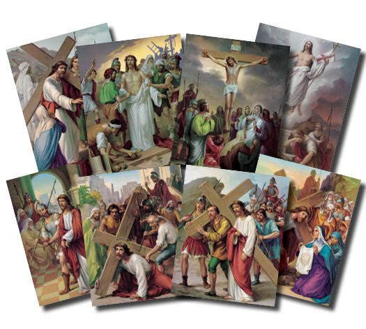 station of the cross | pos 1470 stations of the cross poster wholesale customers please login ...