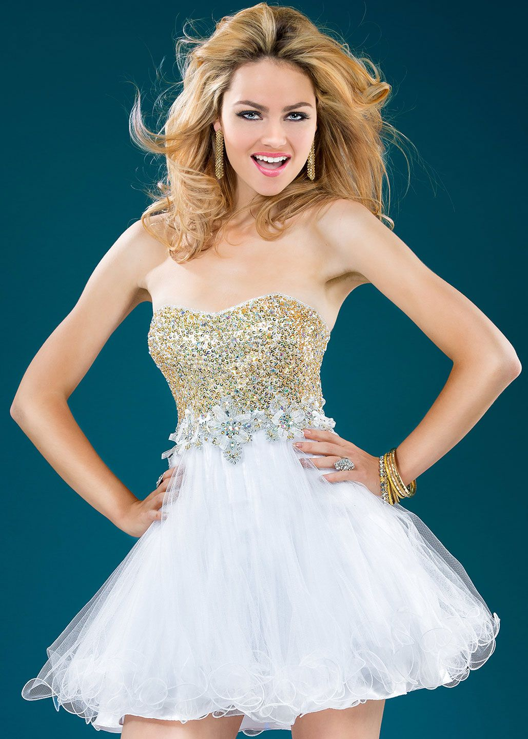 Jovani 78388 white gold short party dresses rissyroos