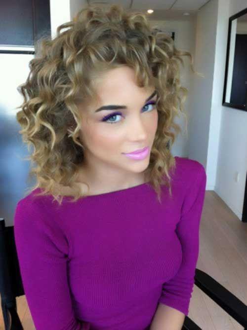 14.Short Curly Hair 2015