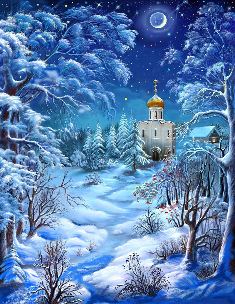 картинки зима красивые рисунки тебе