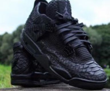 reputable site 6270b 84673 Black cat custom snakeskin!! Black cat custom snakeskin!! Jordan 4 Black, Air  Jordan Shoes ...
