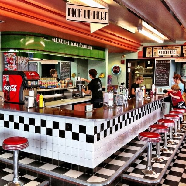 Museum soda fountain yakima washington by mark rentz for 50s diner style kitchen