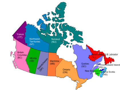Canadas Provinces Capitals Resources With My Kids Pinterest - Political map of canada quiz