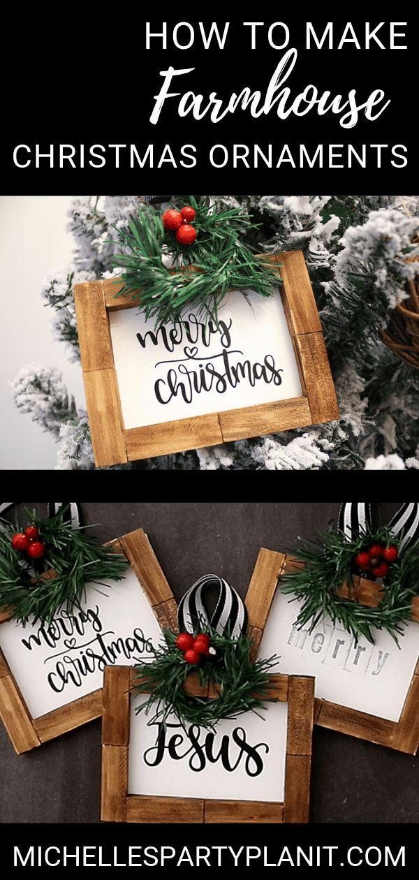 How to Make Farmhouse Christmas Ornaments,  How to Make Farmhouse Christmas Ornaments,