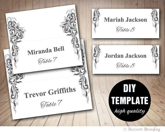 fold over place card template - Intoanysearch