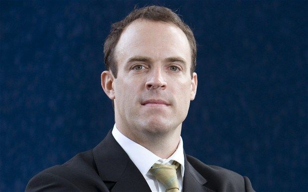 Dominic Raab: An overprivileged, lazy rich boy who wants to bully minorities including the sick and disabled.