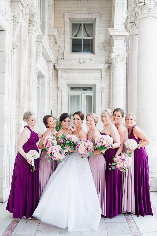 Two Birds Purple Floor-Length Bridesmaid Dresses   I got the ring ...