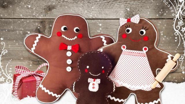 Die lustige lebkuchenfamilie kann man nach anleitung for Dekoideen nach weihnachten
