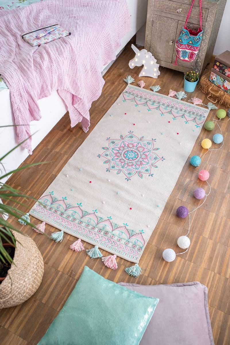 DIY Teppich im Boho Look für das Kinderzimmer Diy