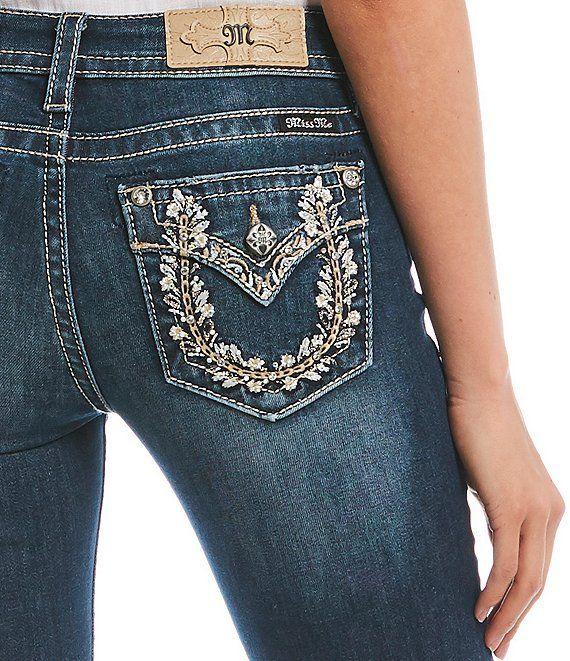 Floral Horseshoe Flap Pocket Bootcut Jeans | Rock revival ...