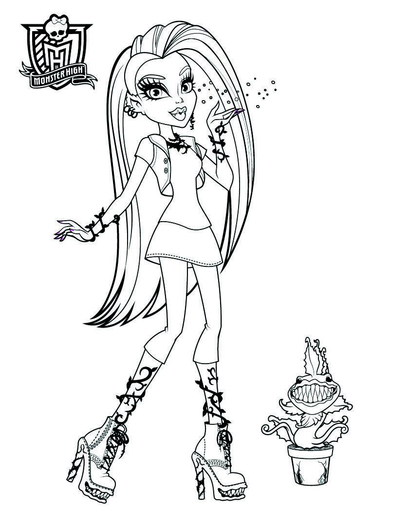 Monster High Disegni Da Colorare E Stampare Gratis Nel 2020 Disegni Da Colorare Monster High Disegni