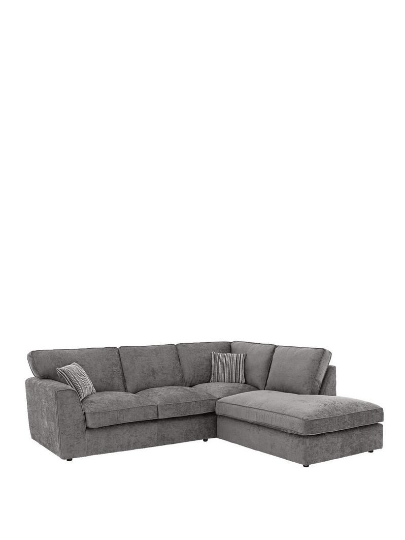 Superbe Brodie Right Hand Fabric Corner Chaise Sofa | Very.co.uk