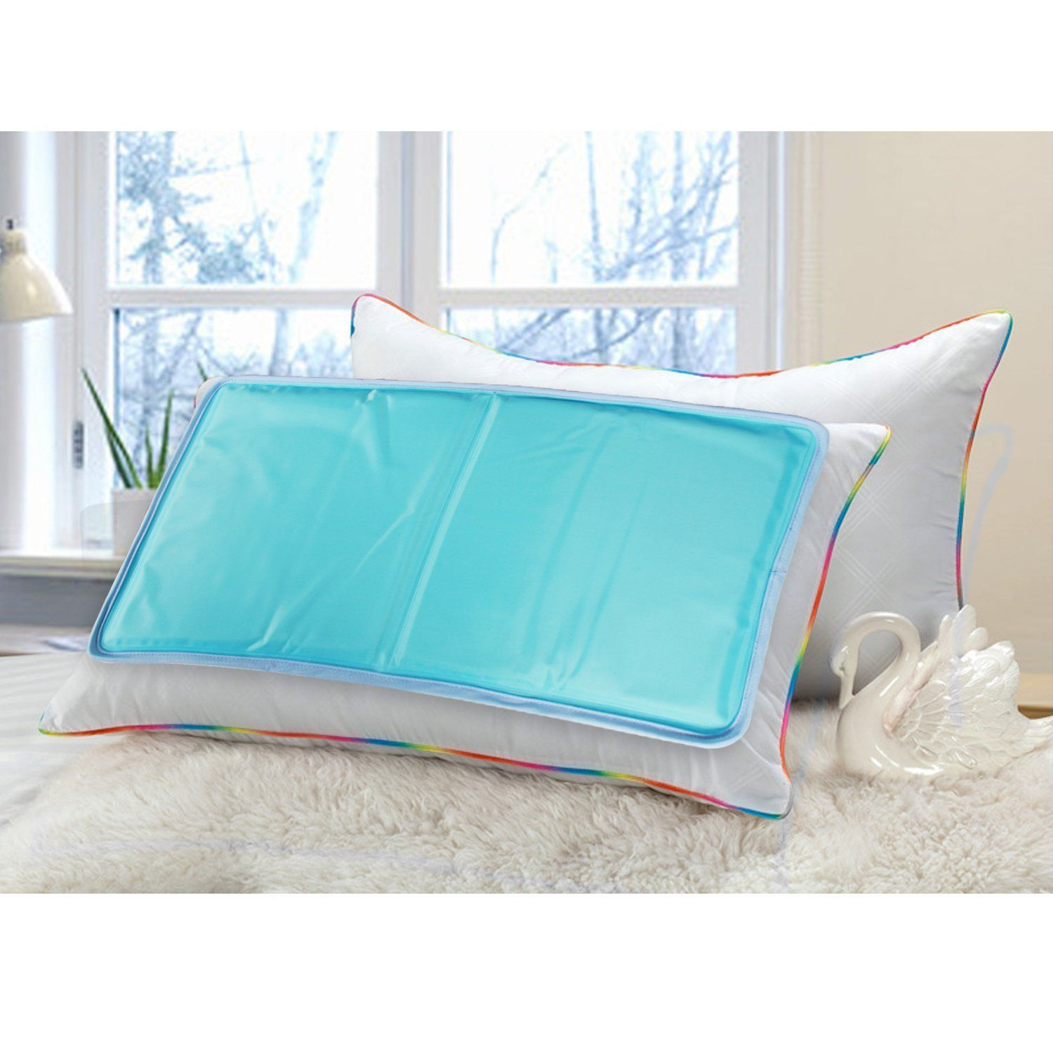 Augymer Cooling Pillow Mat 11 8 X 22 Chilly Gel Mat Reduces