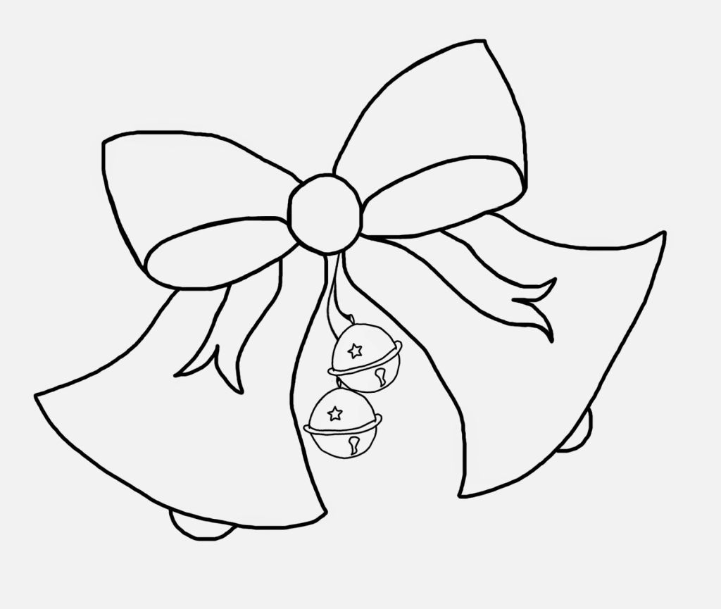 Christmas Bell Coloring Pages | Coloring Pages | Pinterest