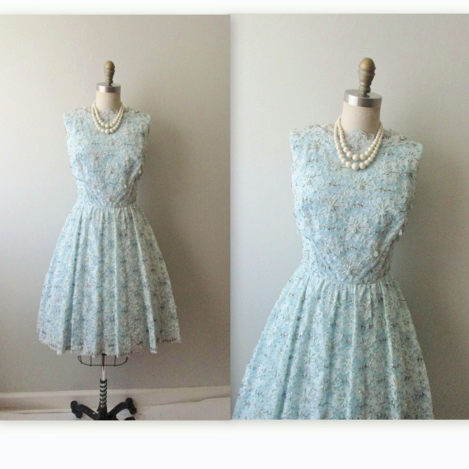 S beaded dress vintage s beaded blue lace party prom wedding