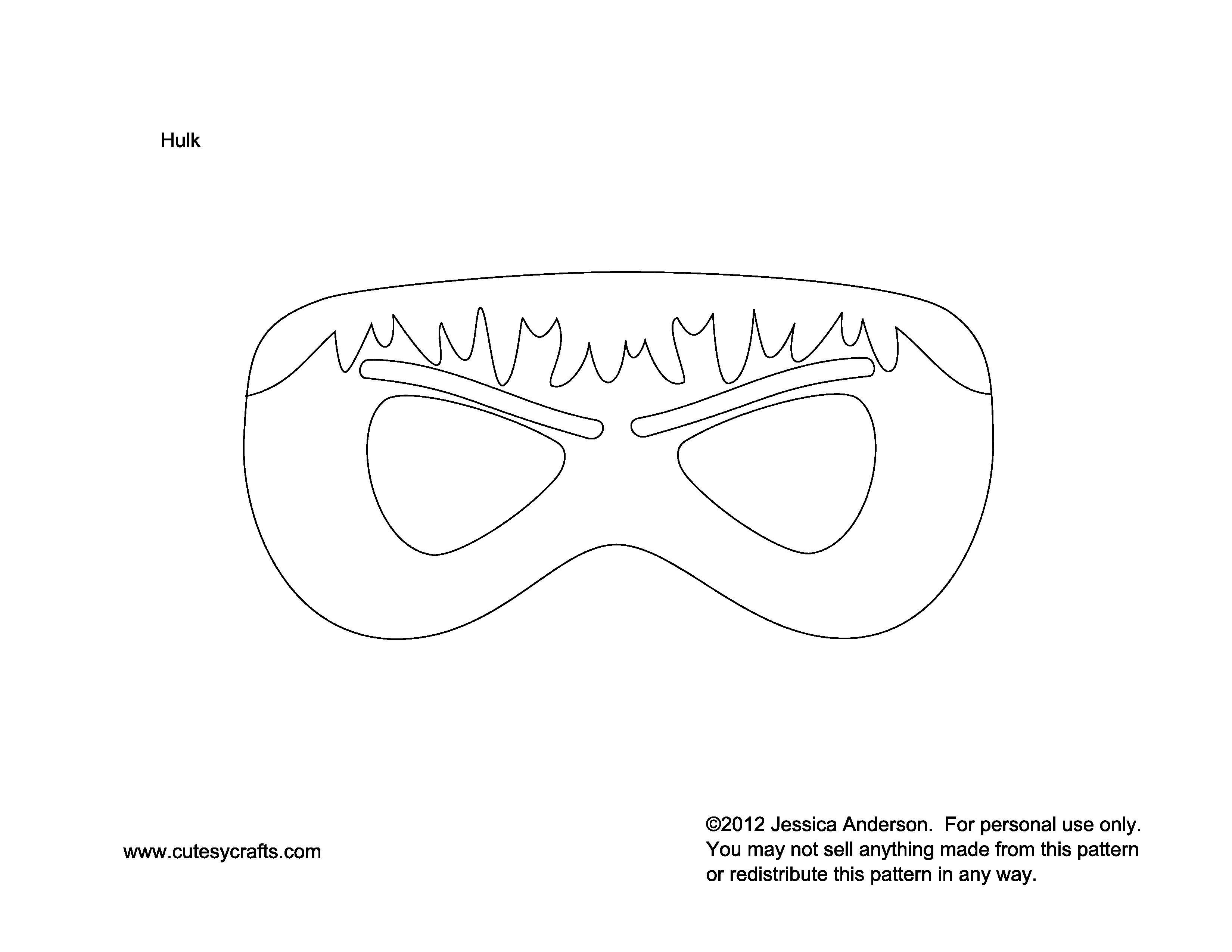 Hulk Mask To Kids Superhero Masks Superhero Mask Template Felt Mask