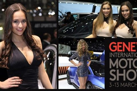 Geneva Motor Show girls are stealing this show as well