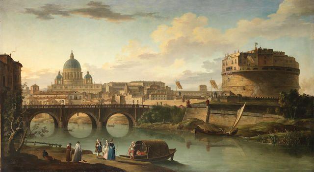 Charles Francois Grenier Lacroix Called Lacroix De Marseilles Paris 1700 1782 Berlin The Tiber Rome With St Peters Basilica Castel Sant Angelo Marseilles