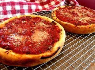 Chicago Style Deep Dish Pizza Recipe Food Recipes Deep Dish
