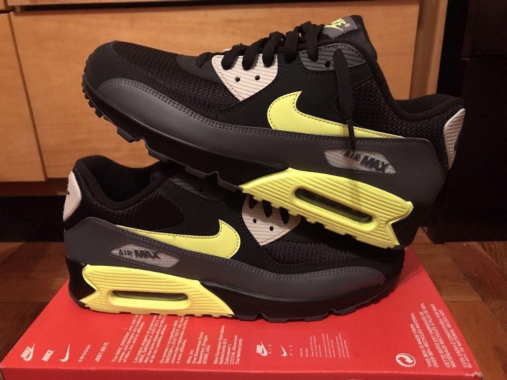 online store 9d533 ae7b9 Nike Air Max 90 Essential Mens Size 10.5 Shoes Grey Volt Black AJ1285 015  Rare   eBay