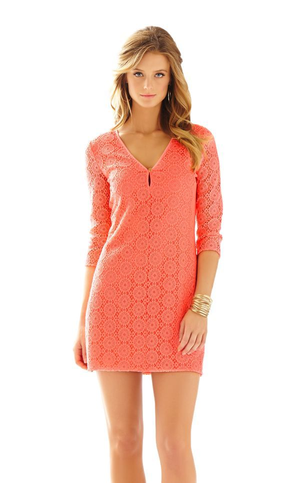 2a8b83dcb9b Lamora Long Sleeve Lace Tunic Dress - Lilly Pulitzer Pucker Pink Breakers  Lace