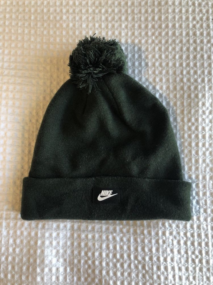 00da58f6185 Nike Green Removable Pom Pom Beanie  fashion  clothing  shoes  accessories   mensaccessories  hats (ebay link)