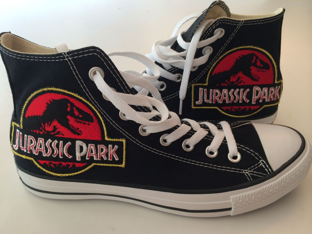 Small DIY project to make a pair of Jurassic Park shoes. in 2019 ... 2d44f88bb2fd