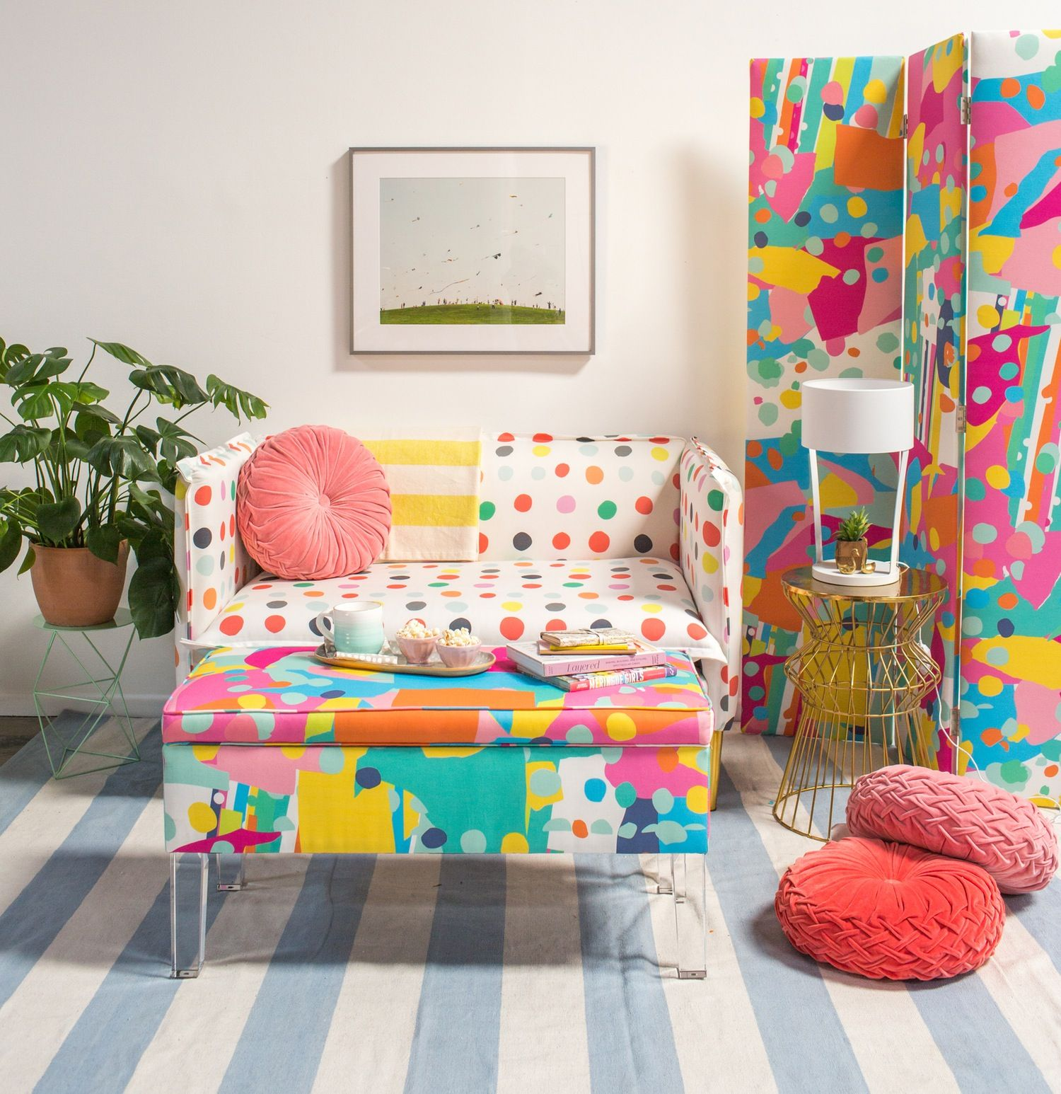 Oh Joy S Rainbow Hued Furniture Collection For Target Is Here And We Want Everything Furniture Collection Colourful Living Room Colorful Furniture
