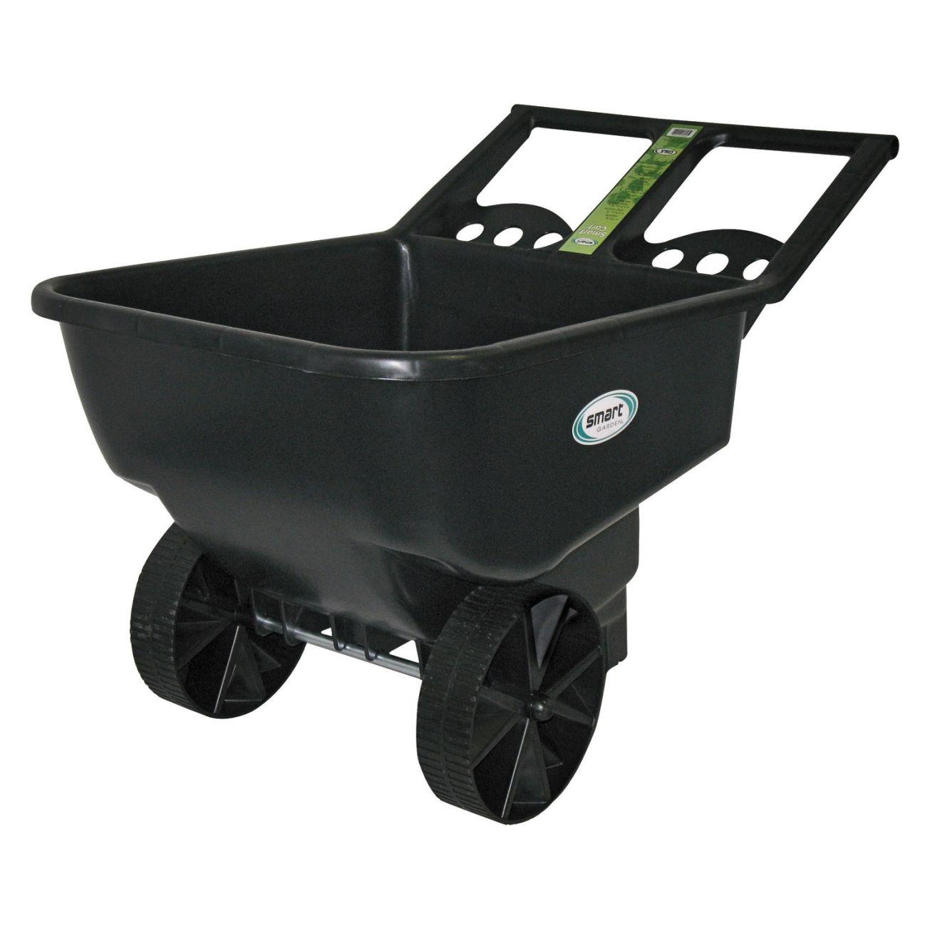 Smart Cart Poly Garden Cart 4 5 Cu Ft Smart Garden Garden Cart Outdoor Cart