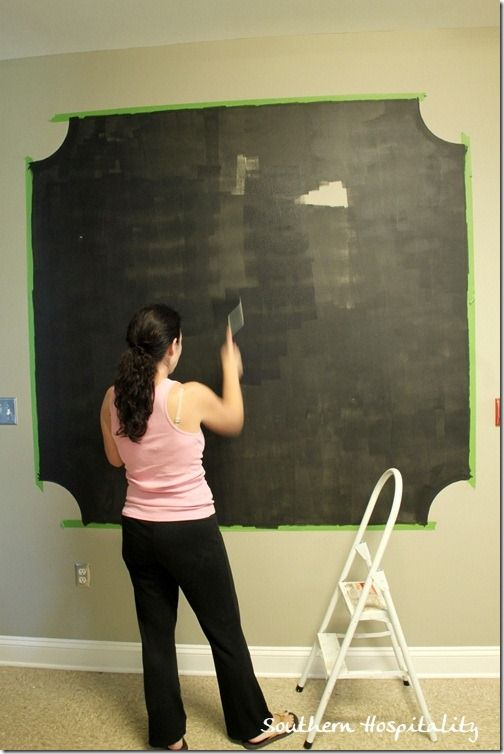 Making A Chalk Board Wall With Frogtape Chalkboard Wall Wall