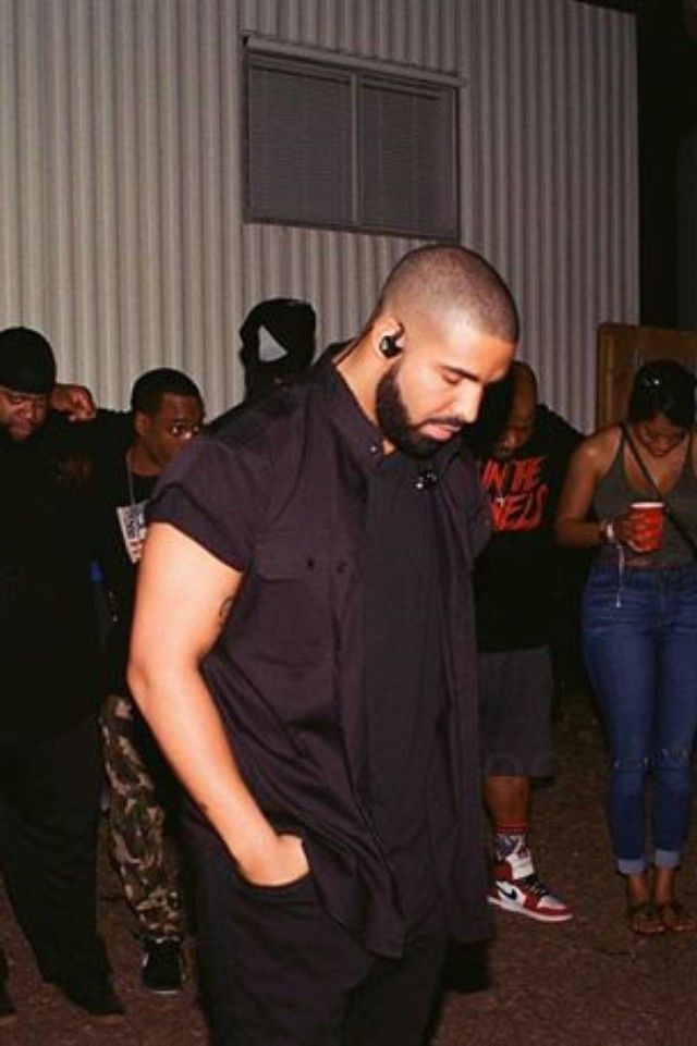 Drake wearing October's Very Own Custom Button Down Collared