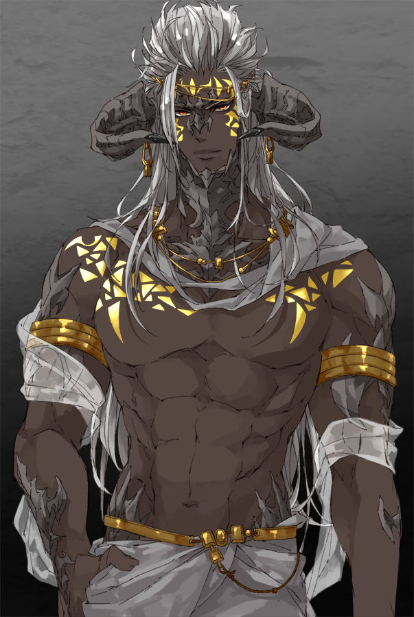 Photo of shirtless fantasy men; pathfinder; D&D; pathfinder; dnd; man; male; tiefling; in…