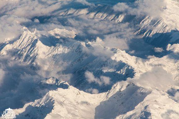 Aerial Mountains near Seattle Washington  Fine by JenniKowalDesign