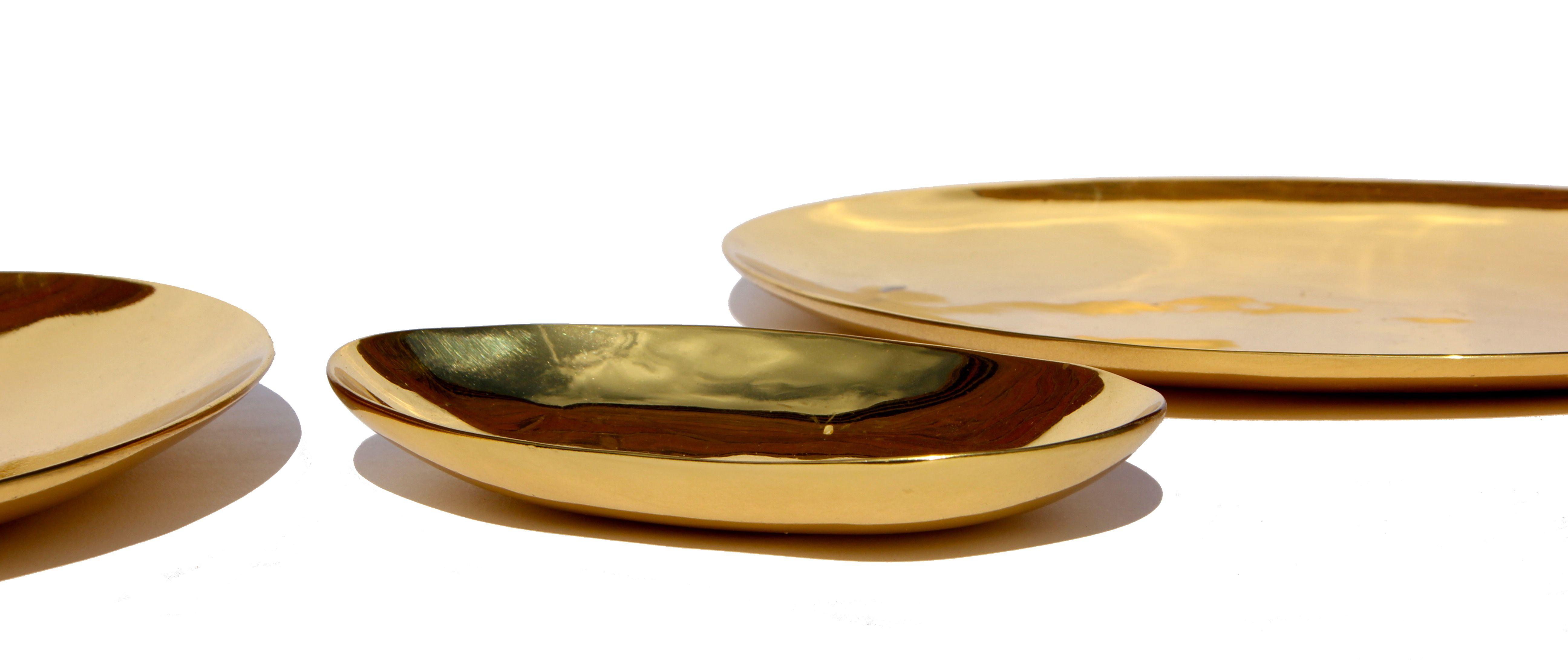 Polished Brass Oval Plate
