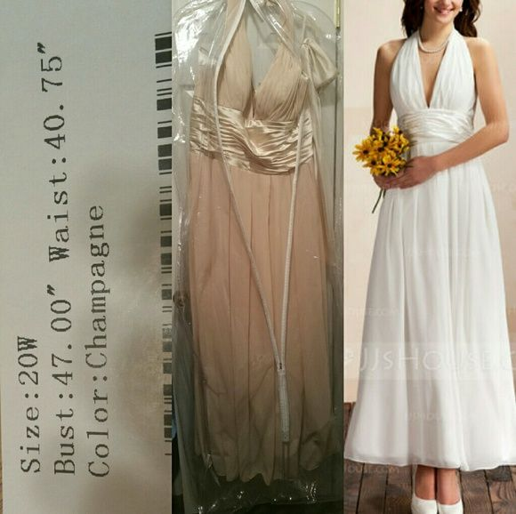 Formal gown Formal A line gown Champaign color. Never worn or ...