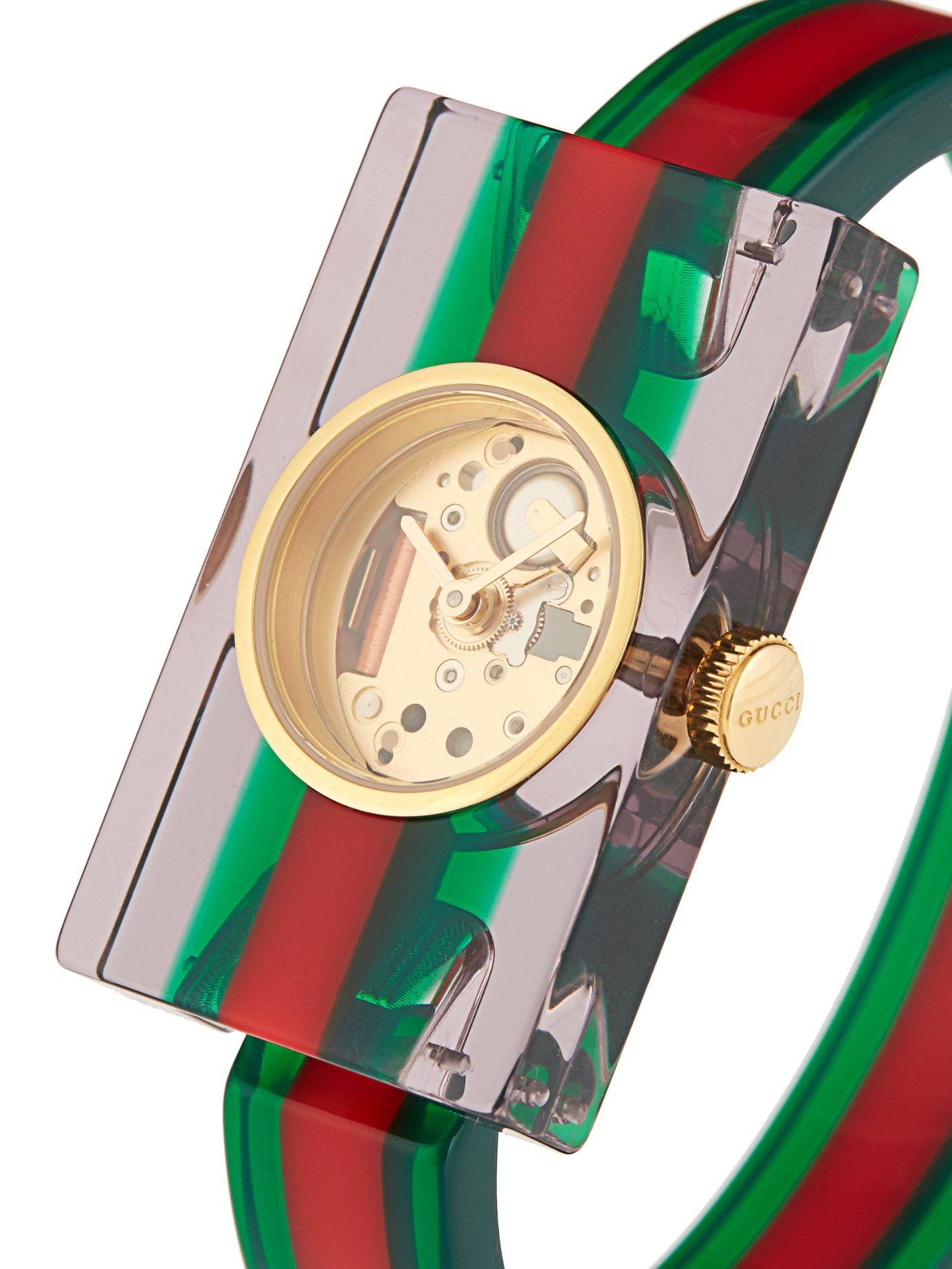 dc68790d5 Vintage Web plexiglass watch | Gucci | MATCHESFASHION.COM ...