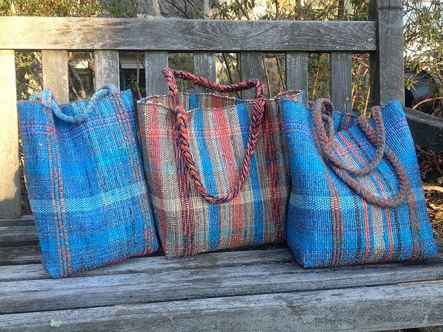 Ravelry: rowingknitter\'s Plastic-Bag Bags. | Weaving | Pinterest ...