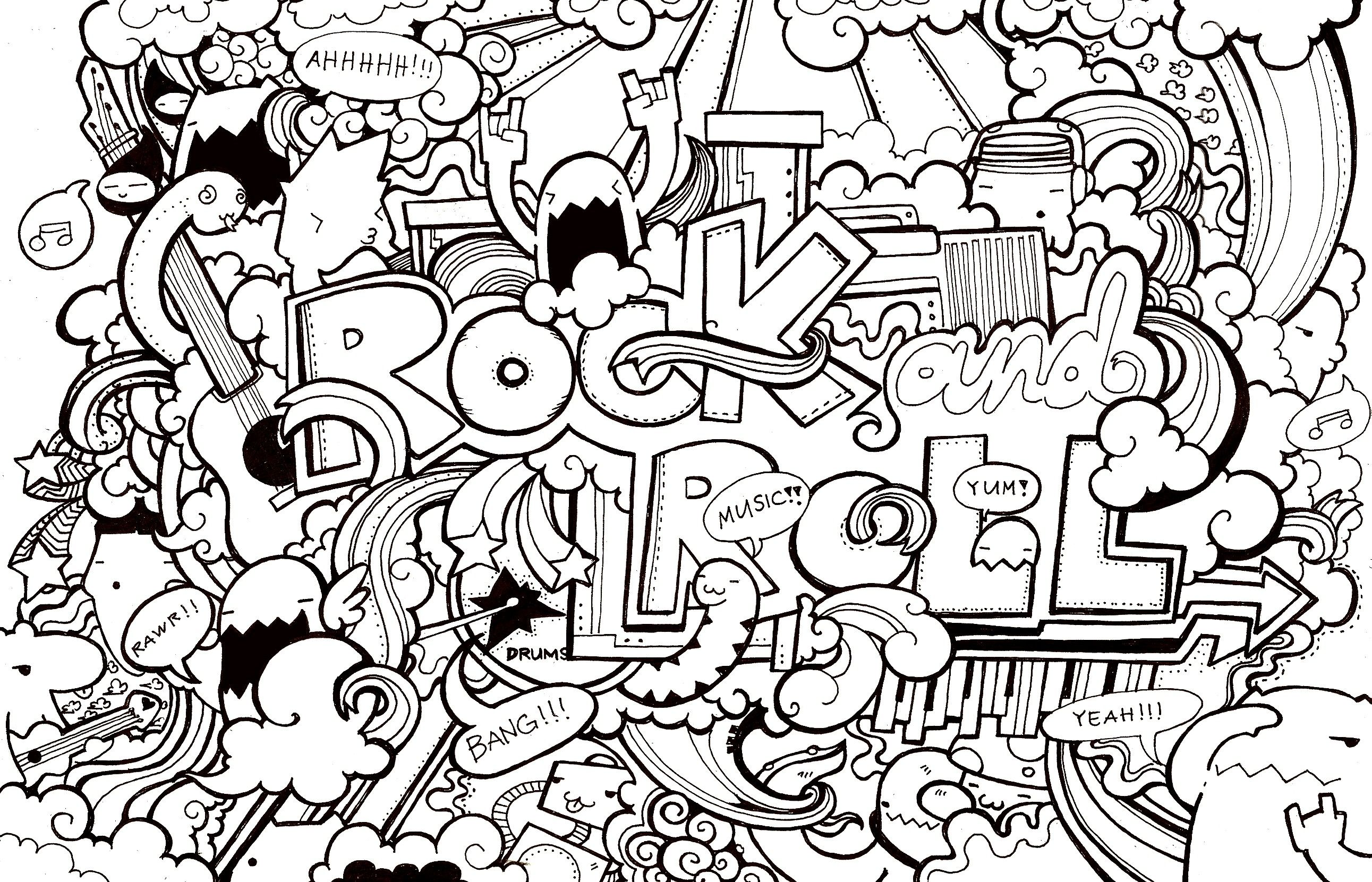 coloring page for older kids (you know, the ones who think they\'re ...