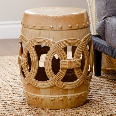 Groovy Outdoor Abbyson Deborah Ceramic Garden Stool Sp 52701 Blk Alphanode Cool Chair Designs And Ideas Alphanodeonline