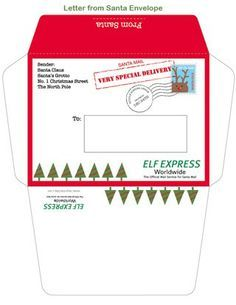 elf on shelf letters printable envelopes | Vintage Romance: Elf on the Shelf & 2 printables #elfontheshelfarrival