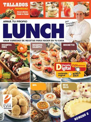 """#Lunch 2 #VD-Evia  Dos ediciones especiales preparadas por el maestro Marcelo Vallejo dedicados a Lunch y Buffet. La propuesta consiste en que, con pocos platos y un poco de imaginación, la mesa resulte armoniosa y distinguida. Una variedad de productos; con la parte fría, los calentitos y los platos principales.  Y el """"cierre de oro"""" de todo evento, la mesa dulce!"""