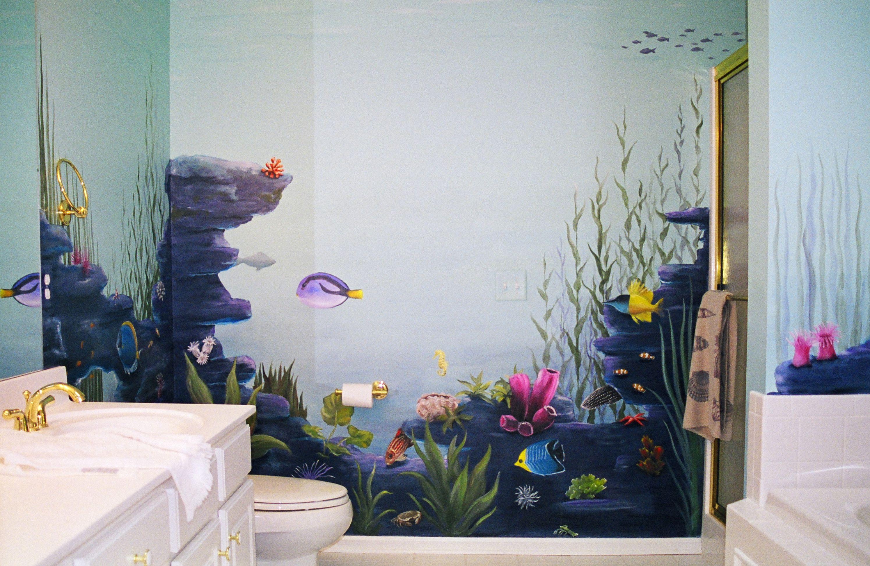 banheiro  mural