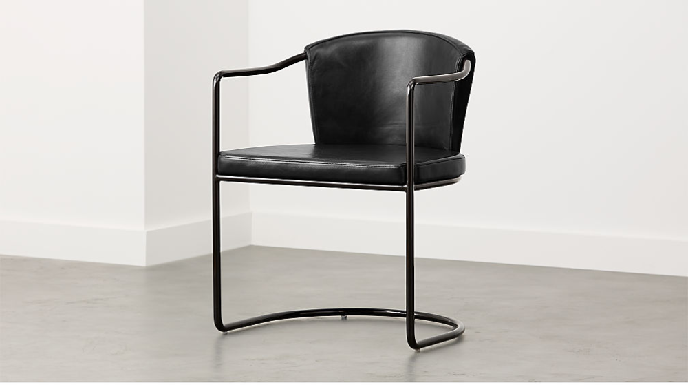 Cleo Black Cantilever Chair + Reviews CB2 Cantilever