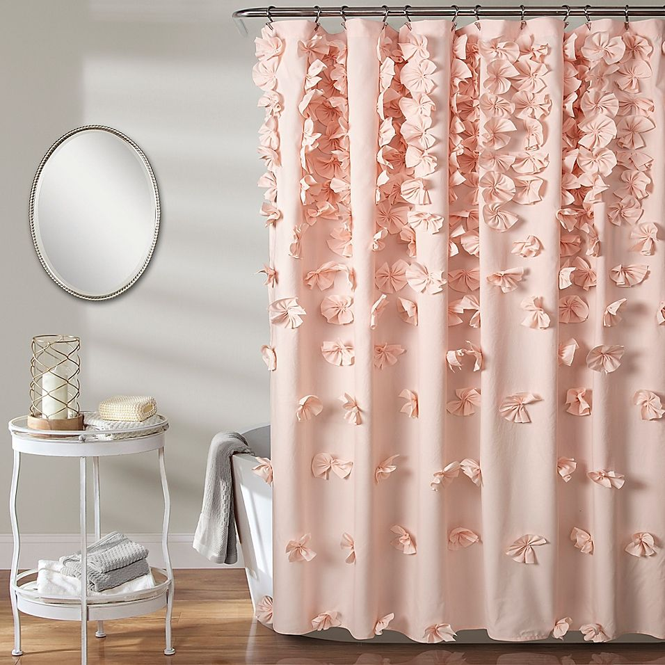 Lush Decor Riley Shower Curtain In Blush Shabby Chic Shower