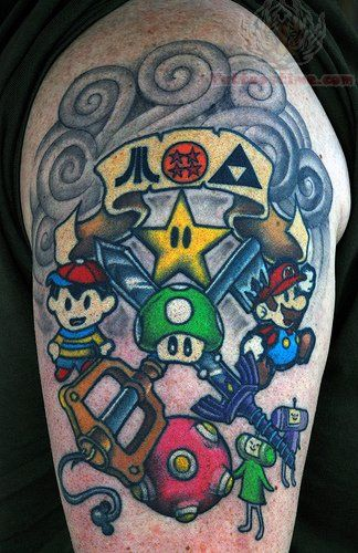 Retro Game Tattoo Picture Tattoos Pinterest Gamer Tattoos